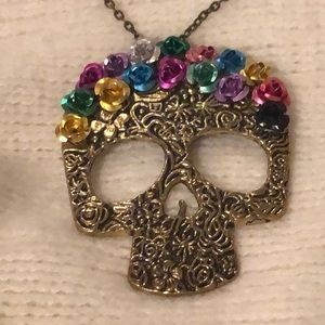 Jewelry - Sugar skull day of the dead necklace